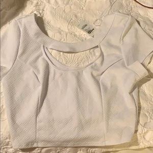 White crop top - Charlotte Russe